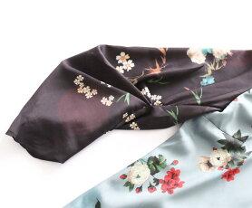 【再入荷♪10月5日12時&22時より】(グリーン)「french」バックリボンの素敵な花柄トップス