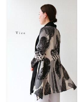 ▼▼「Vieo」モノトーンの流れる調べ羽織3月18日22時販売新作