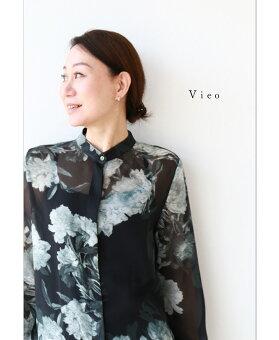 ▼▼「Vieo」しとやかに咲いてブラウス3月21日22時販売新作/S6