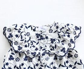 【再入荷♪9月7日12時&22時より】「french」可憐な花刺繍のトップス