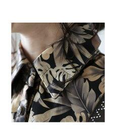 ▼▼「french」上品柄ブラウスの重ね着風トップス9月13日22時販売新作