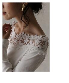 ▼▼「pave」デコルテに美しく咲く花レーストップス9月18日22時販売新作
