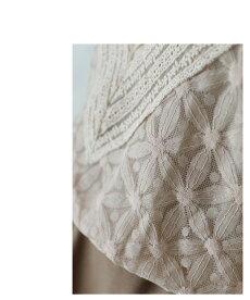 ▼▼「french」Vラインと花咲くレースのプリーツスリーブトップス10月8日22時販売新作