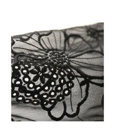 ▼▼(ブラック)「pave」腕に咲く満開の花。シアーショルダートップス10月9日22時販売新作