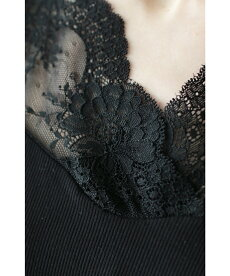 ▼▼「frenchpave」デコルテラインと袖の透け感。レースの切り替えトップス12月7日22時販売新作