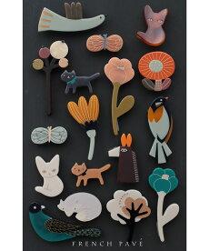 ▼▼「frenchpave」花や木、動物たちのポイントブローチ12月26日22時販売新作
