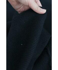 ▼▼(ブラック)「frenchpave」動く度揺れる。アシンメトリー裾のニットスカート12月21日22時販売新作