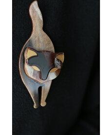 ▼▼「frenchpave」装いにプラス。しなやかな猫のブローチ1月22日22時販売新作