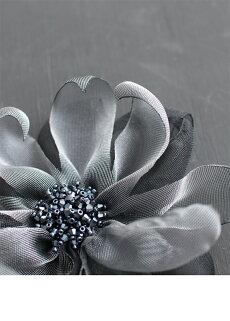 ▼▼「frenchpave」穴を開けず楽しめる。ビーズ煌めくリッチな花ブローチ2月9日22時販売新作