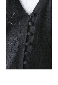 ▼▼S〜M/L〜2L(予約受注会)(ブラック)FRENCHPAVEオリジナル上品な薄手ベルスリーブロングカーディガン羽織り3月9日22時販売新作S/M/L/2L