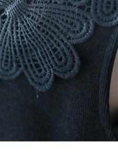 ▼▼S〜M/L〜2L(予約受注会)(ブラック)FRENCHPAVEオリジナル大輪の花咲くブラックタンクトップトップス3月21日22時販売新作/S/M/L/2L