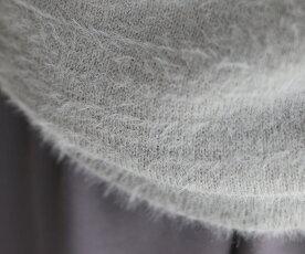 ▼(S~L対応)(グレー)「frenchpave」大胆に咲くデコルテの花。モヘアニットトップス9月23日22時販売新作
