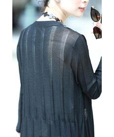 ▼▼(ブラック)「FRENCHPAVE」(黒)1枚あればコーデが広がる。着回しロングカーディガン羽織り