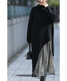 【コーデセット】「FRENCHPAVE」(ブラック)お洒落に体型カバー。大人のチュールスカートコーデセットトップス/スカートw68902/w688991月14日22時販売新作