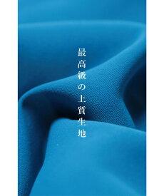 ▼▼S〜M/L〜2L(ブルー)FRENCHPAVEオリジナル大人タックのストレートドレープワンピース8月9日22時販売新作S/M/L/2L