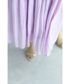 ▼▼(バイオレット)「frenchchpave」風に揺れるグロッシースカート8月1日22時販売新作