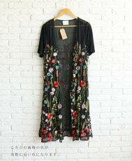 52/鮮やかな花が咲き誇るロングの羽織り