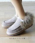 【大特価:アウトレット 返品可能】「FRENCH PAVE」(リアルファー)流行の後ろファーの靴