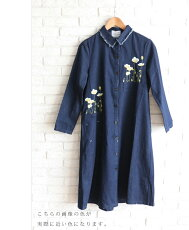 「french」デニムの羽織りに優しい花刺繍を添えました。3月13日22時販売新作