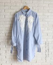 「french」天使の羽のロングシャツ3月19日22時販売新作