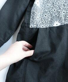 ▼▼(ブラック×ホワイト)「frenchpave」花ざかり美レースシャツワンピース4月1日22時販売新作