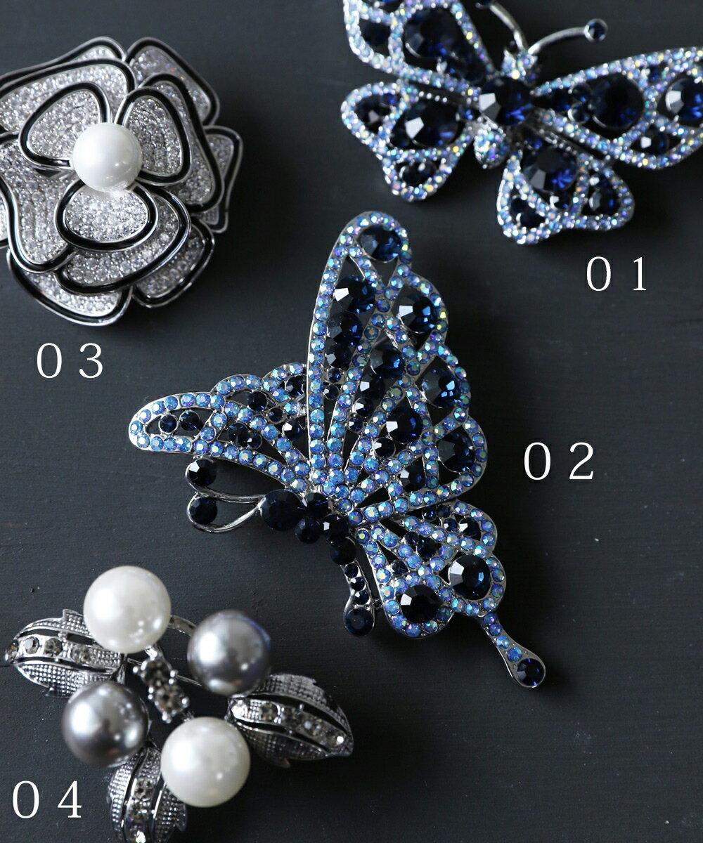 「frenchpave」煌めく花と蝶々のブローチコレクション4月6日22時販売新作