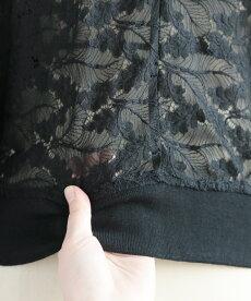 ▼▼「frenchpave」シアーな美しさを普段着にも。ブラックレースブルゾン羽織り4月16日22時販売新作