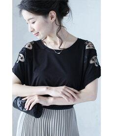 ▼▼「frenchpave」肩で魅せるシアーに咲いた花トップス4月14日22時販売新作