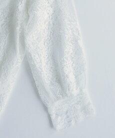 ▼▼(ホワイト)「frenchpave」V型ネックラインの麗しレースブラウストップス4月16日22時販売新作