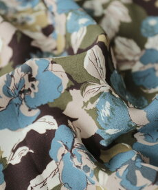 ▼▼(カーキ)「FRENCHPAVE」色とりどりの花が咲いたあったかニットタイツ11月13日22時販売新作