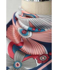 ▼▼(ピンク)「FRENCHPAVE」配色鮮やかなレトロフラワースカーフ2月17日22時販売新作