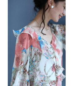 ▼▼(S~L対応)「FRENCHPAVE」ひらひらと舞う袖の花フリルブラウストップス7月17日20時販売新作