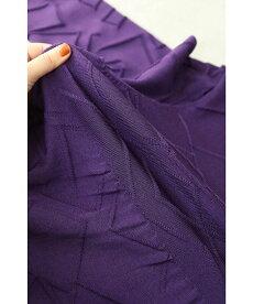 (M~3L対応)浮き立つアート模様の裾レースプルオーバートップス