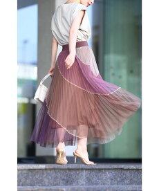 ▼▼4色カラーが織りなすふんわりチュールミディアムスカート