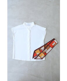 ▼▼(S~L対応)(スカーフ付き)チュール襟のとろみシャツトップス
