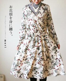 (アイボリー)「mori」お花畑を身に纏う。ワンピース1月31日22時販売新作