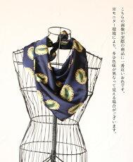 「mori」ブローチ柄の上品スカーフ。3月18日22時販売新作