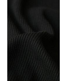 S〜L/2L〜3L対応(ブラック)「FRENCHPAVEオリジナル」(黒)美しく透ける肩レースのボートネックニットトップス11月12日22時販売新作
