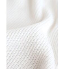 S〜L/2L〜3L(ホワイト)「FRENCHPAVEオリジナル」肩レースニット肩と袖の透けレース。タートルネックカットソートップスS/M/L/2L/3L11月12日22時販売新作