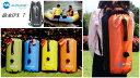 完全防水バッグ 防水リュック ダブルショルダー ドライバッグ 吸排気バルブ付 ウォータープルーフ 3...