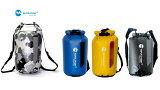 完全防水バッグ 防水リュック ダブルショルダー ドライバッグ ウォータープルーフ 20L 小窓付 ビーチバッグ 防水バッグ ドライ チューブ バッグ