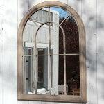【送料無料】ミラー壁掛けウォールミラー鏡かがみ掛けミラーレトロ素朴ナチュラル北欧シンプル木製木製フレームアンティーク木フレーム飛散防止窓メルヘン北欧カントリー天然木ビンテージヴィンテージ