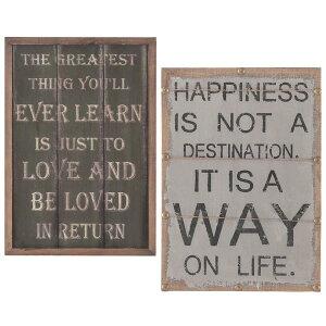 【送料無料】英字 アートパネル (LOVE/HAPPINESS) 長方形 かっこいい カッコイ…