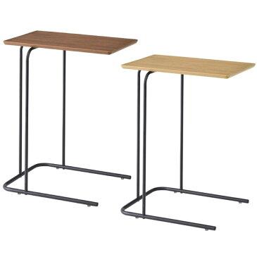 【送料無料】 サイドテーブル BR/NA ブラウン ナチュラル コの字 ナイトテーブル ミニテーブル コーヒーテーブル 幅35cm 奥行47cm 高さ60cm 北欧/シンプル/ナチュラル/モダン/ブルックリン/カフェ風