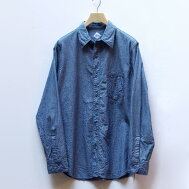 CORONA(コロナ)NAVY1POCKETSHIRTシャンブレーシャツ