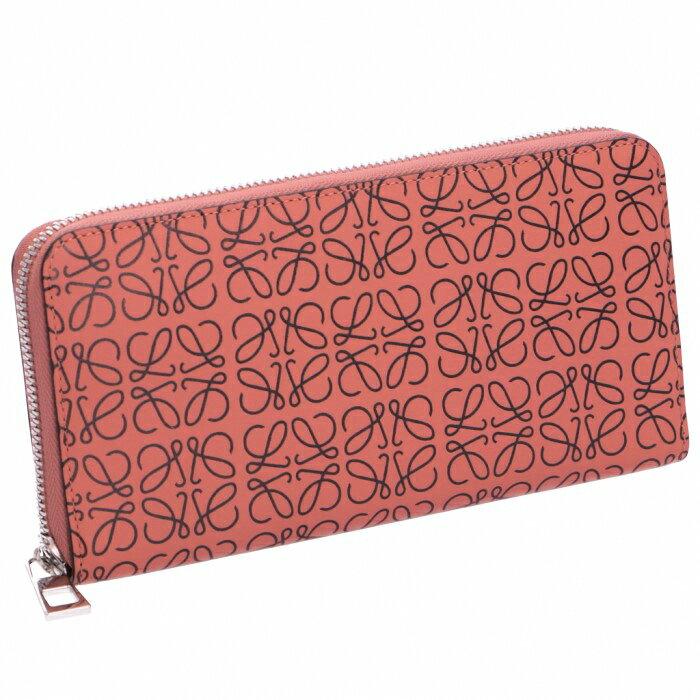 64d49176a4a7 ロエベ 財布 エンボスアナグラム zip around wallet ラウンドファスナー長財布 ピンク系 PINK TULIP/BLACK