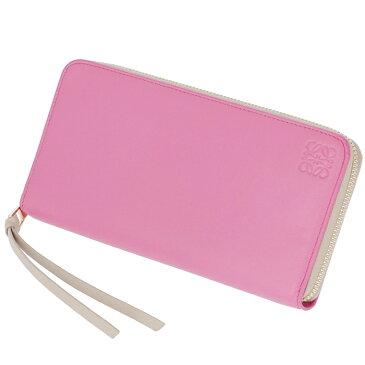 ロエベ LOEWE 財布 レディース ラウンドファスナー zip around wallet 長財布 ピンク×ピンクベージュ バイカラー 109N80F13 0004 7605