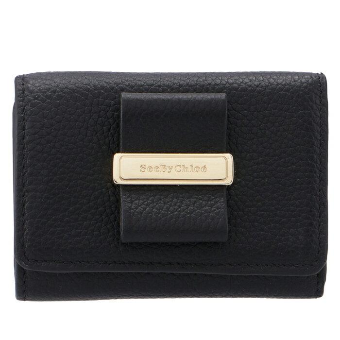 シーバイクロエSEEBYCHLOE財布三つ折りROSITAミニ財布ブラックCHS18AP826349001
