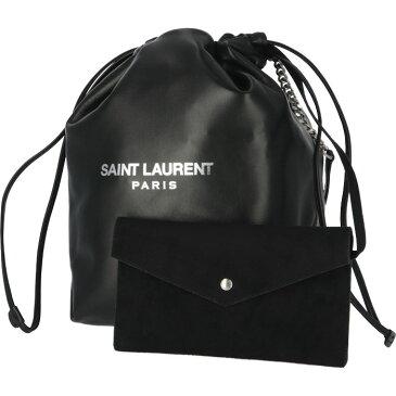 サンローラン パリ SAINT LAURENT PARIS 2019年春夏新作 ショルダーバッグ テディ TEDDY ドローストリングバック ブラック 538447 0YP0E 1000