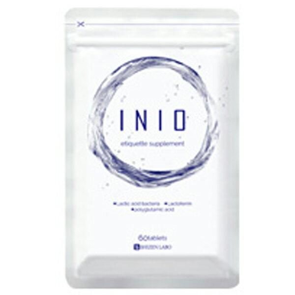 イニオ(INIO) 1袋(60粒入 約30日分)エチケットサプリ 口臭 シャンピニオンエキス ラクトフェリン 月桂樹 菌活
